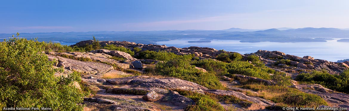 Top of Cadillac Mountain on Mount Desert Island