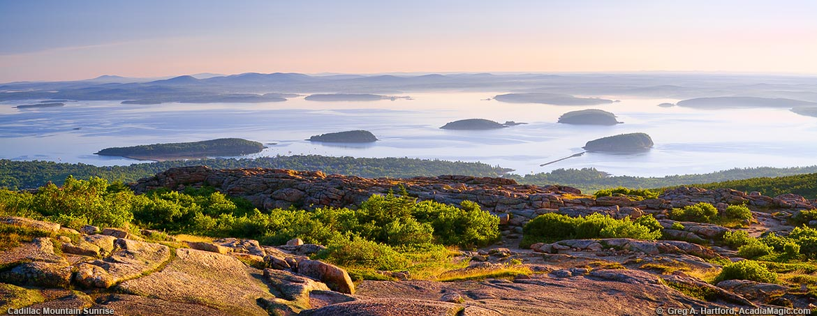 View of the Out Islands from Cadillac Mountain
