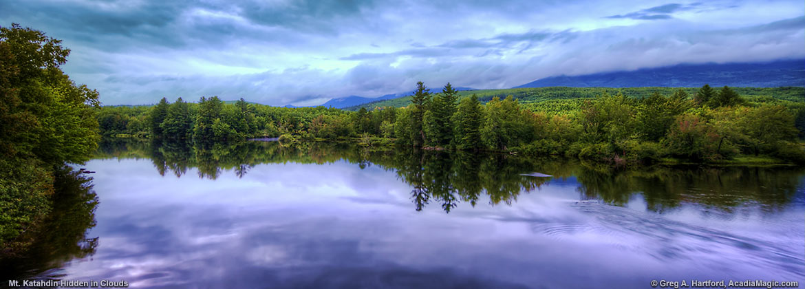 Cloud Covered Mount Katahdin