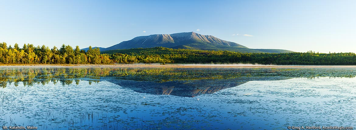 Early September view of Mount Katahdin