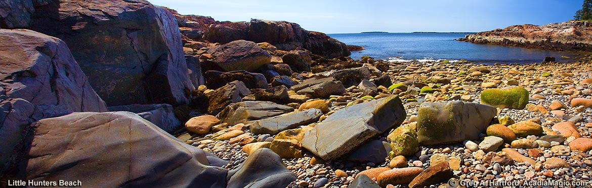 Rocky Shore of Little Hunters Beach in Acadia National Park