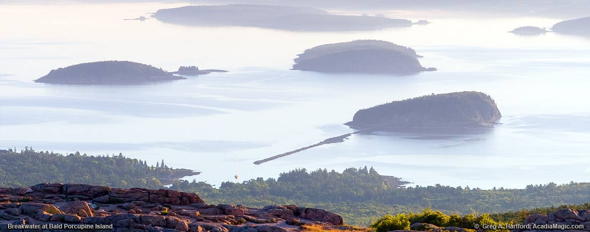 Islands next to Bar Harbor, Maine