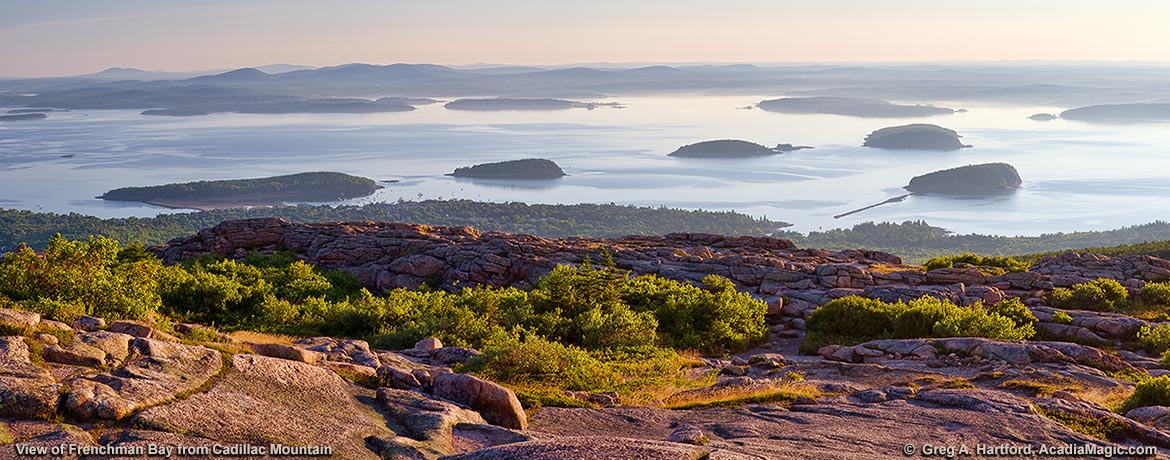View of Frenchman Bay from Cadillac Mountain