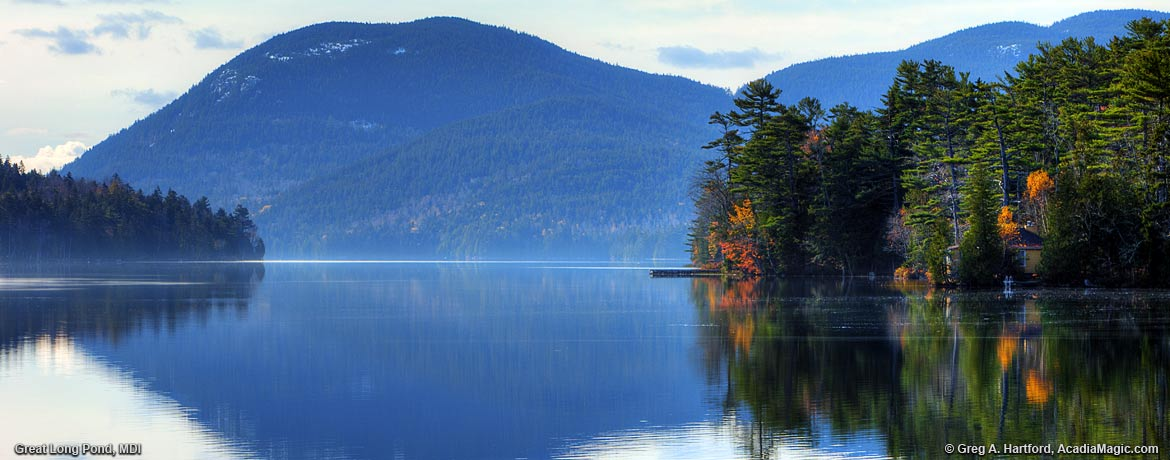 Great Long Pond on Mount Desert Island, Maine