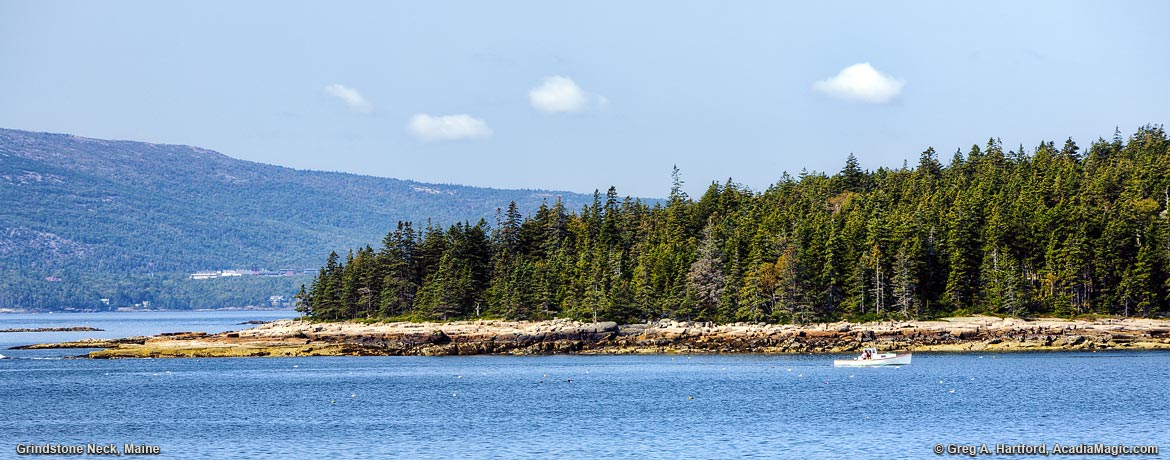 The view of Grindstone Neck from Schoodic Peninsula