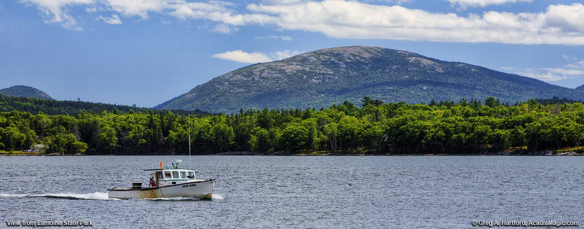 View of Cadillac Mountain from Lamoine State Park