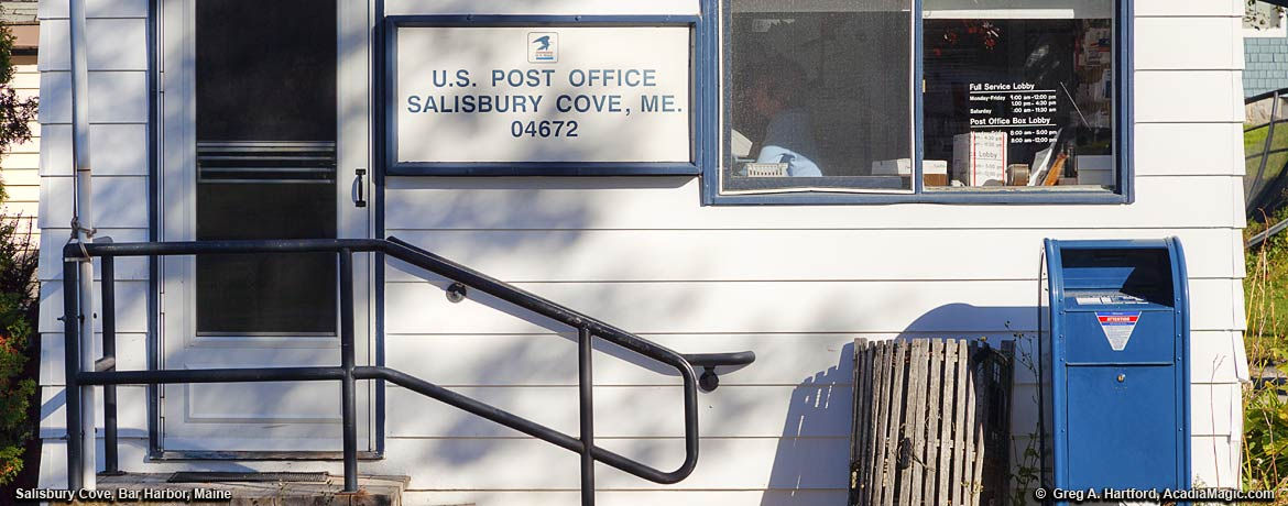 Salisbury Cove Post Office with Lobster Mail