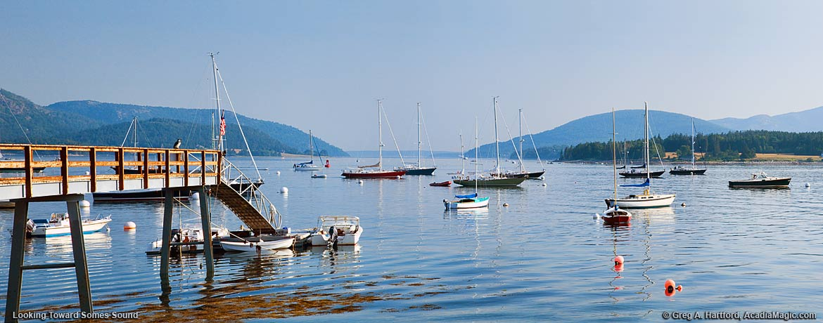 View of Somes Sound from Southwest Harbor, Maine