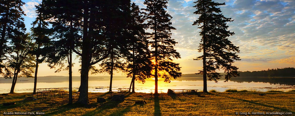 Sunrise at Thompson Island Picnic Area