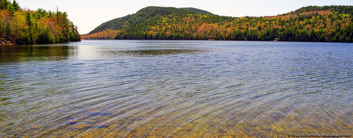 Echo lake beach acadia national park maine view of echo lake from route 102 sciox Choice Image