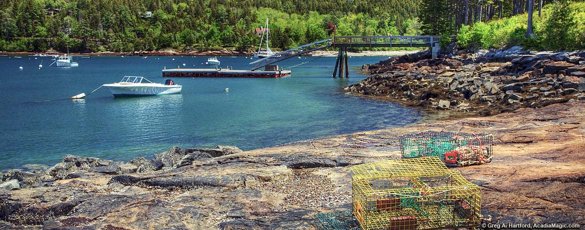 Lobster traps in Northeast Harbor, Maine