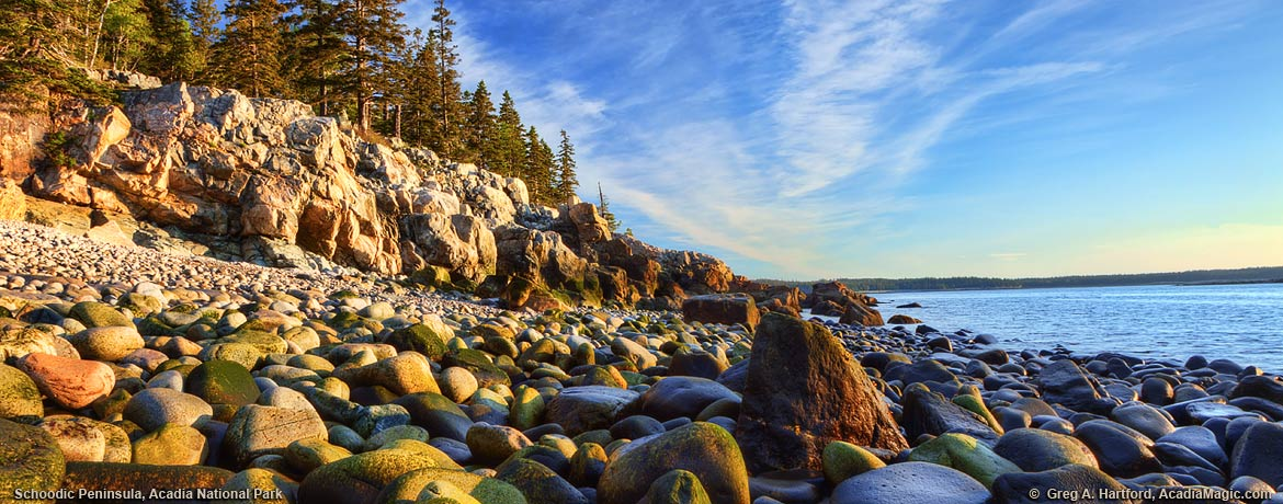 East coast of Schoodic Peninsula during sunrise