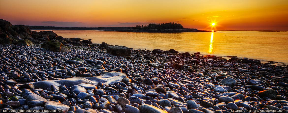 Sunrise on the Schoodic peninsula in Acadia National Park, Maine