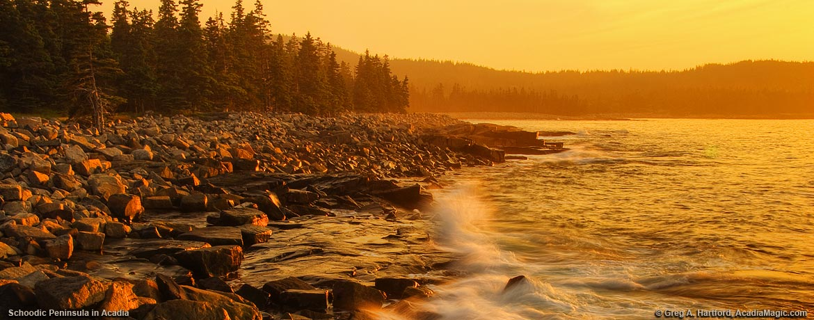 Sunrise at Arey Cove viewed from Schoodic Point