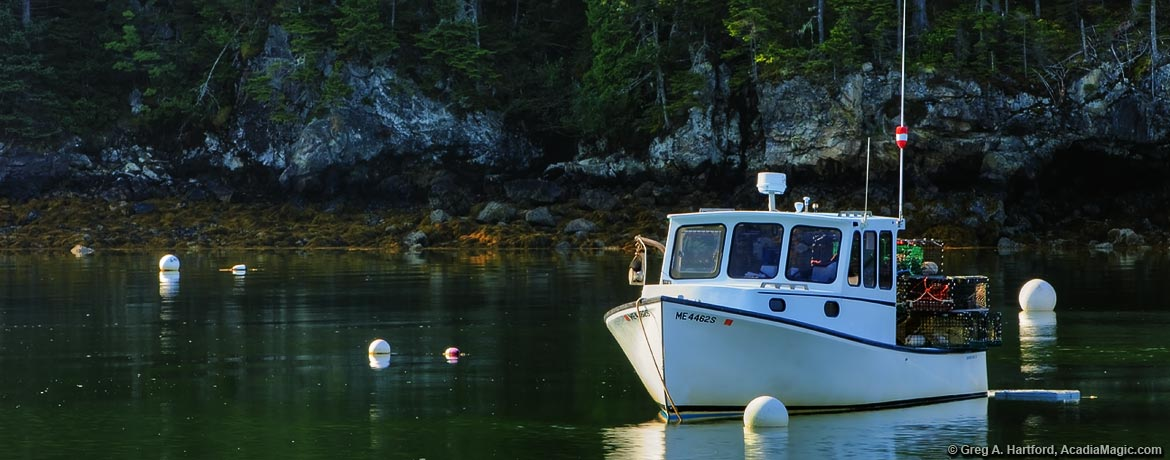Lobster boat in Seal Cove, Tremont