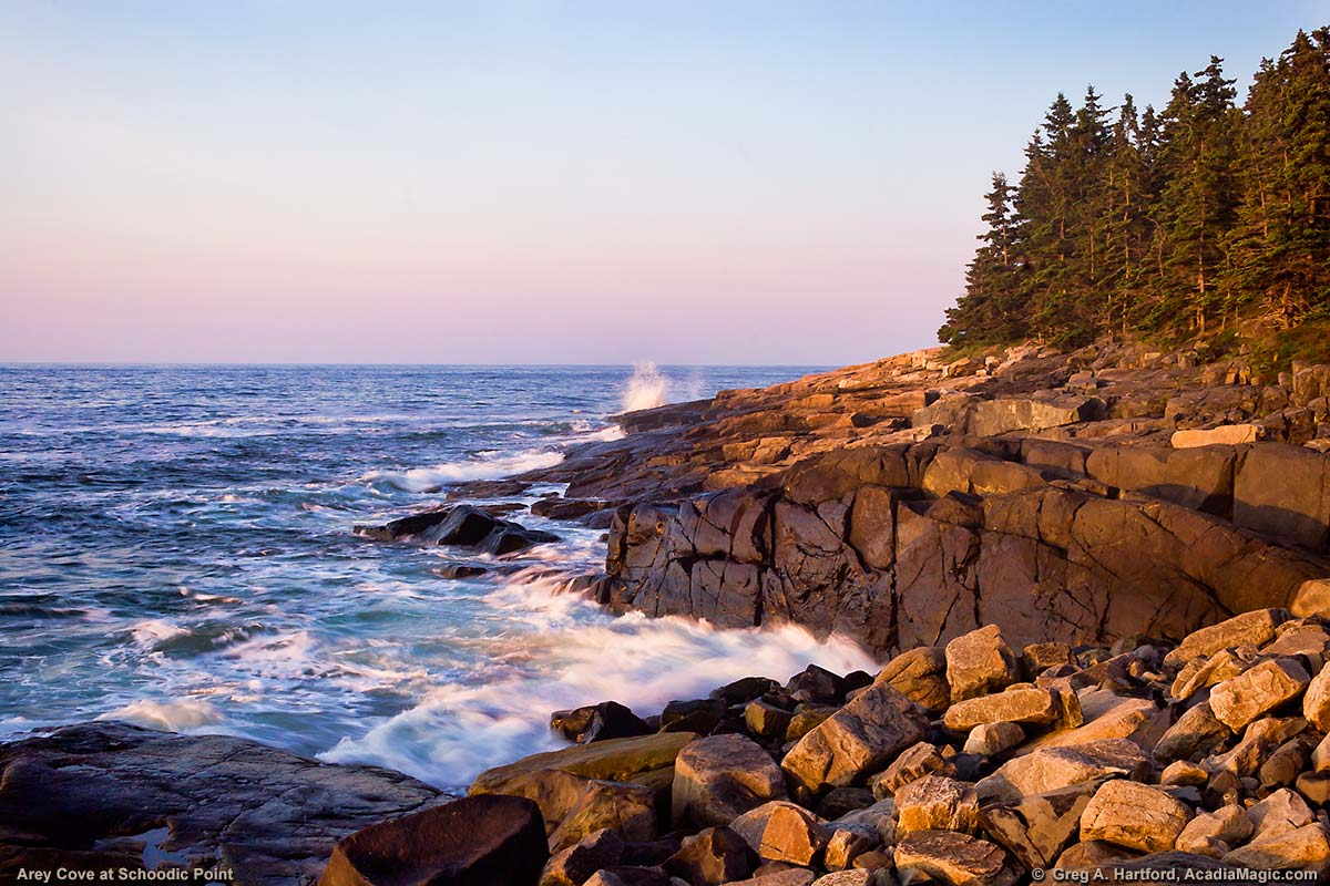 Arey Cove next to Schoodic Point in Acadia