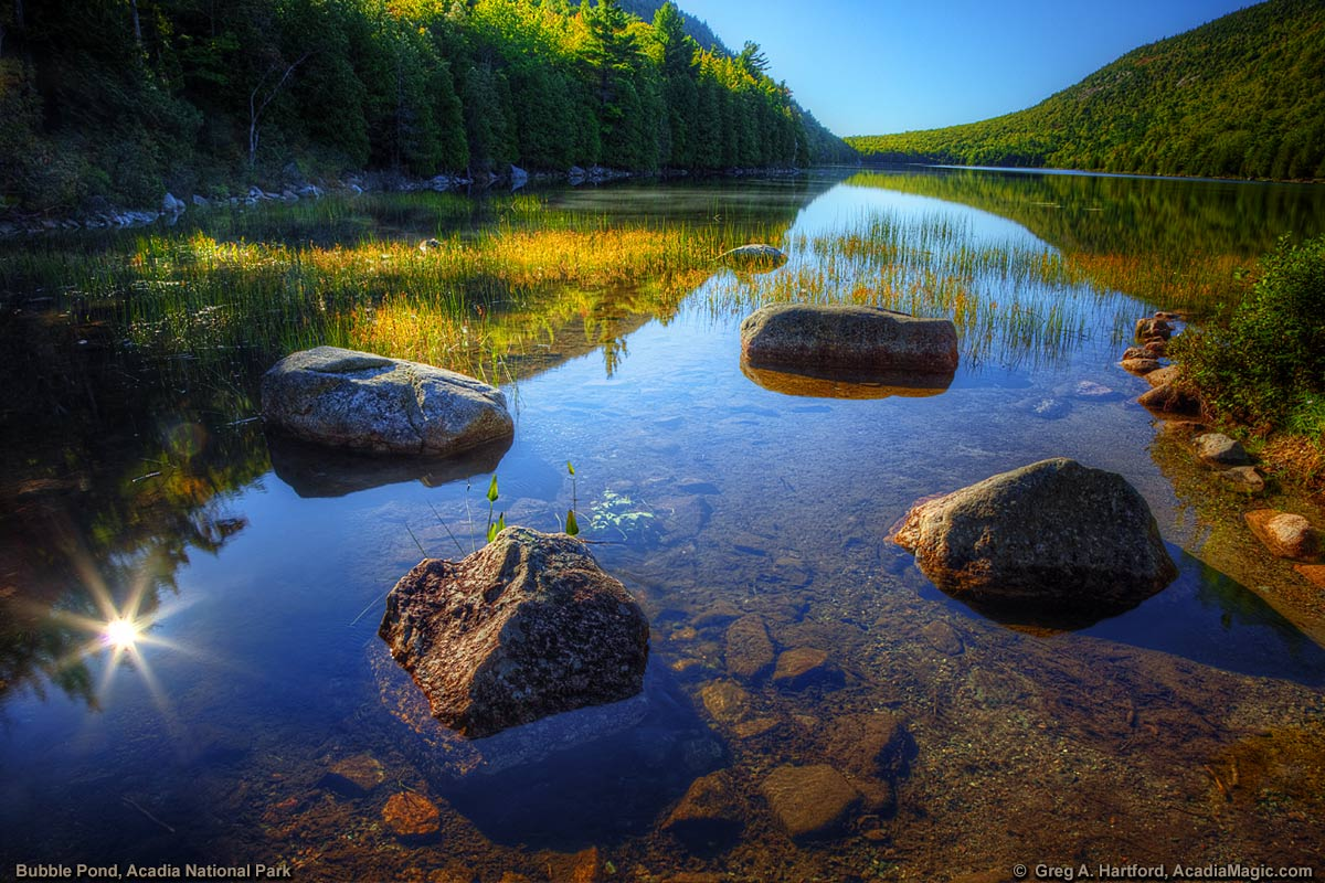 Bubble Pond in Acadia National Park, Maine