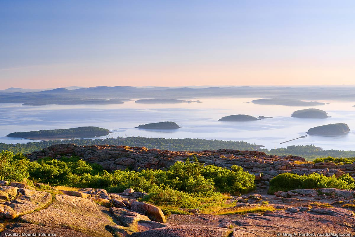 The out islands between Mount Desert Island and the mainland of Maine