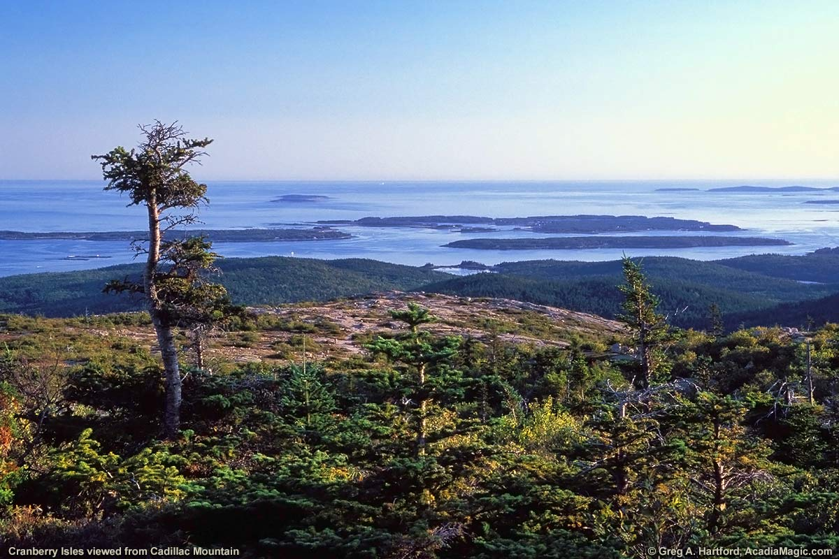 View of Cranberry Isles from Cadillac Mountain