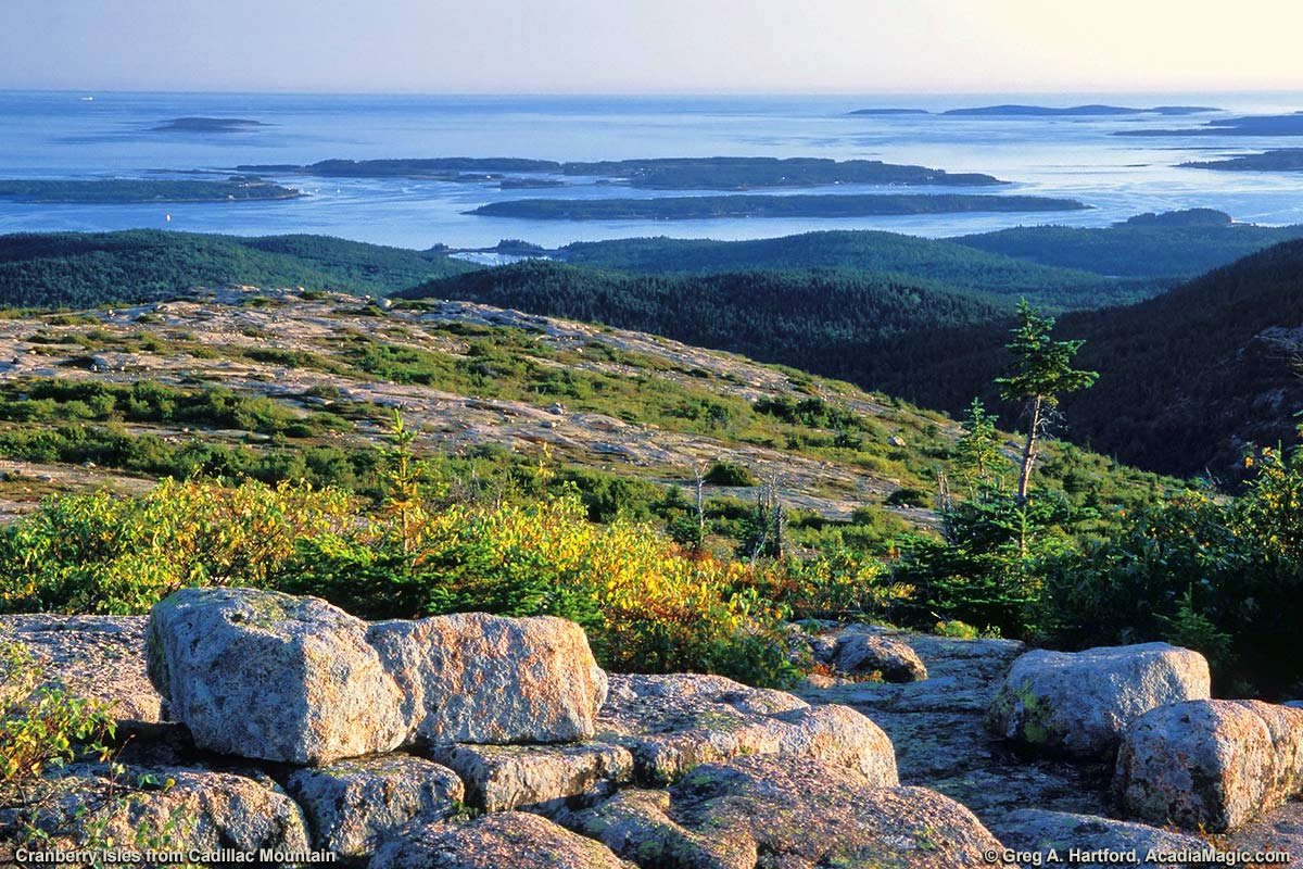 Cadillac Mountain with the Cranberry Isles