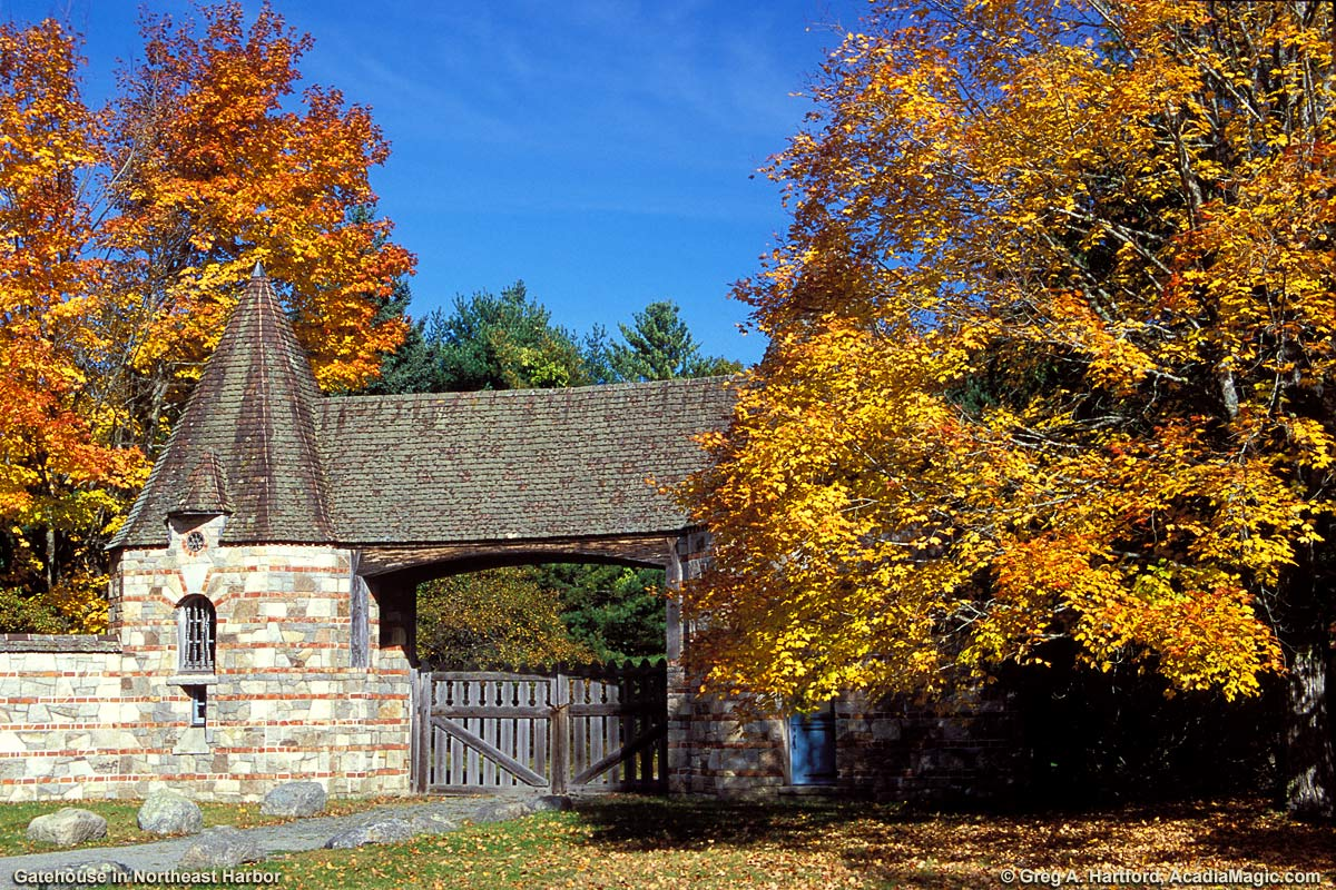 Carriage Road Gatehouse in Northeast Harbor, Maine
