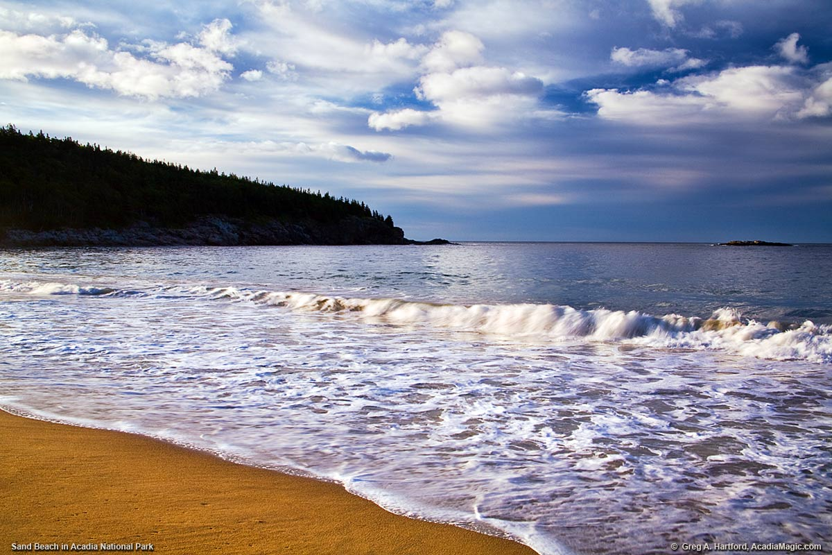 Sand Beach In Acadia National Park Maine