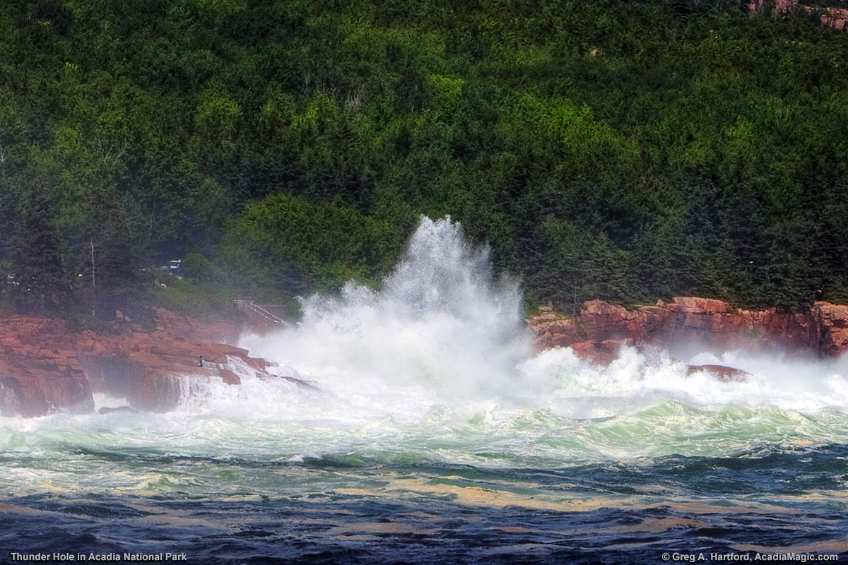 Stormy Seas at Thunder Hole in Acadia National Park, Maine