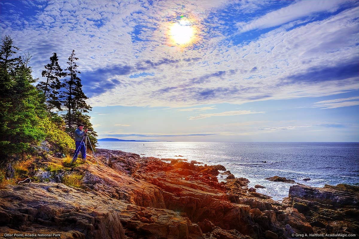 Sunrise at Otter Point in Acadia National Park