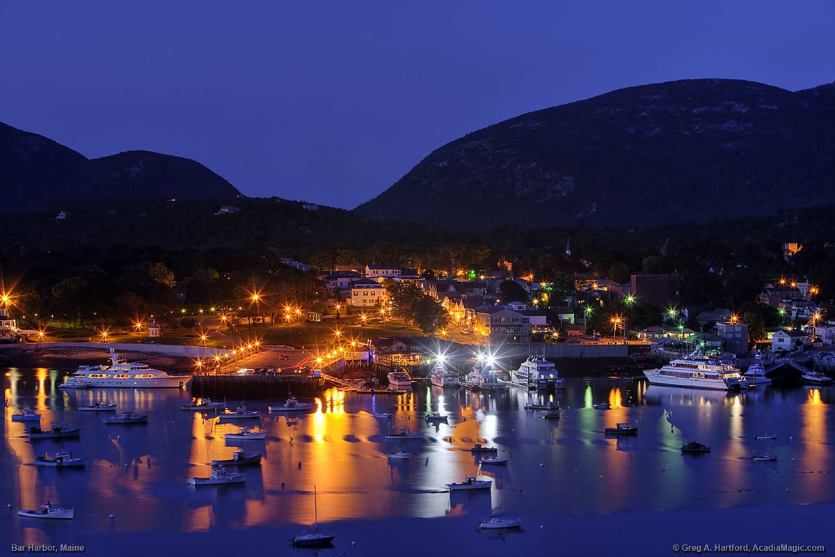 Bar Harbor twilight before the dawn