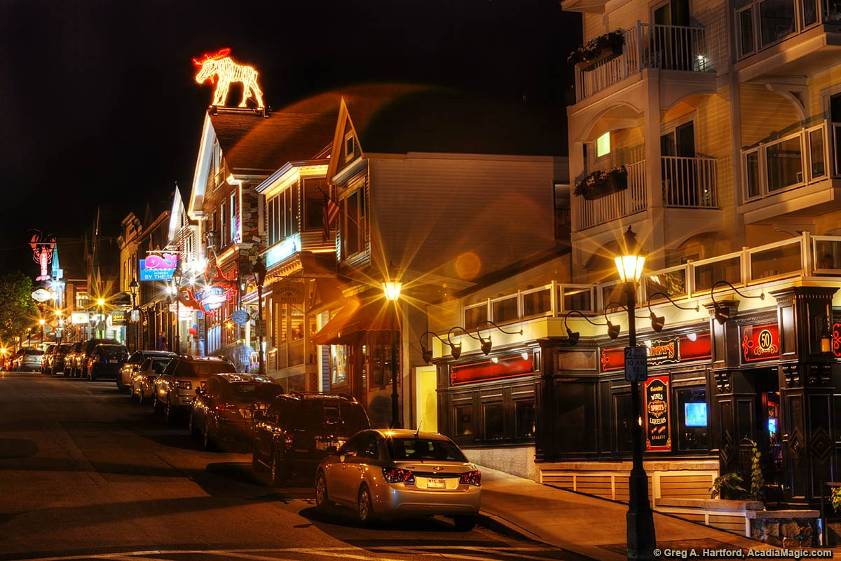 Night on Main Street in Bar Harbor