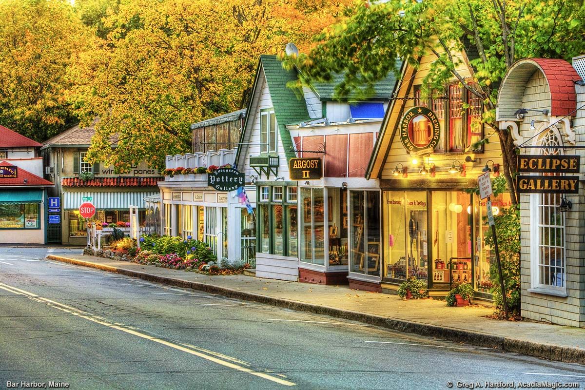 Mount Desert Street in Bar Harbor, Maine