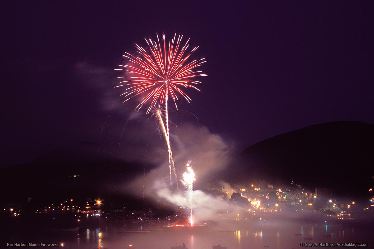 July 4th Fireworks in Bar Harbor, Maine