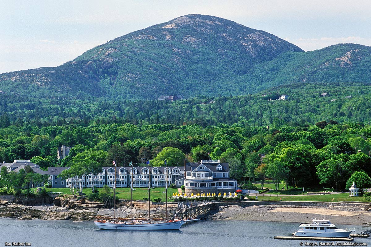 Champlain Mountain in Acadia National Park and Bar Harbor