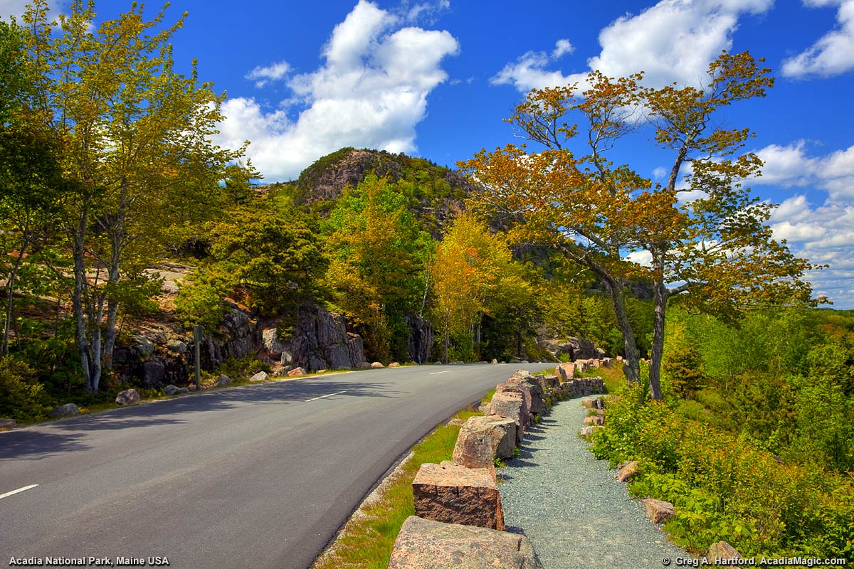 The Beehive seen from the Park Loop Road in Acadia National Park