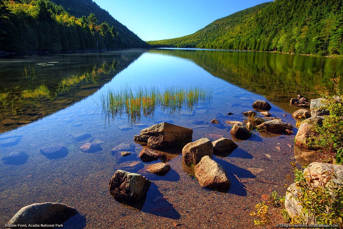 Bubble Pond in Acadia National Park