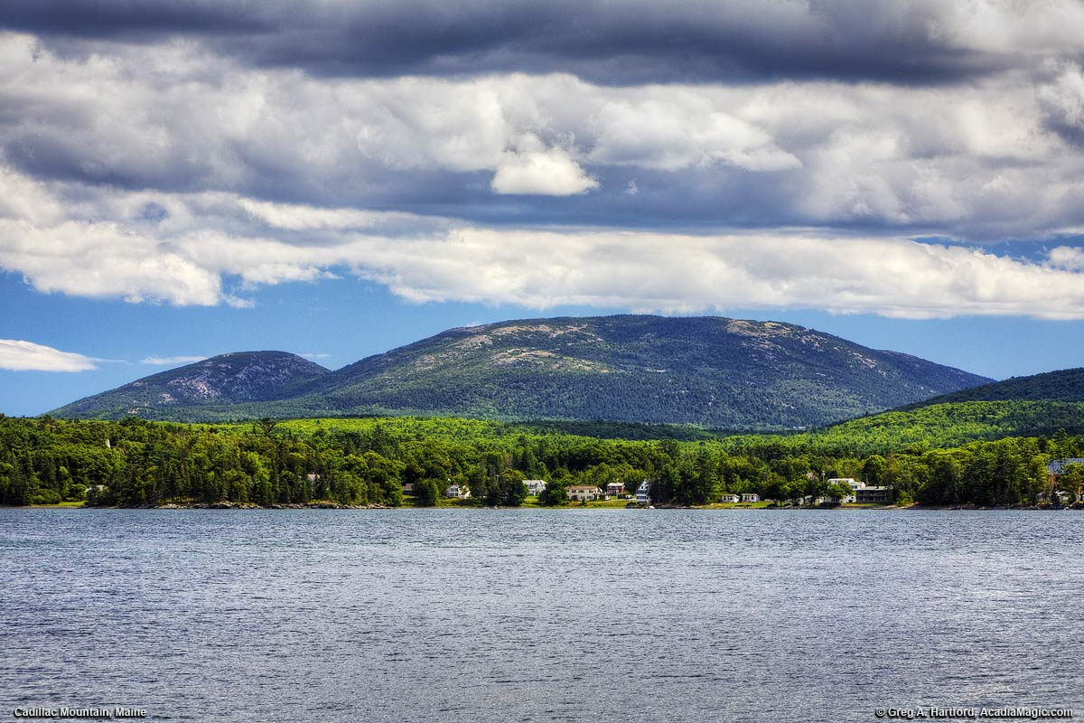 Cadillac Mountain seen from Lamoine State Park