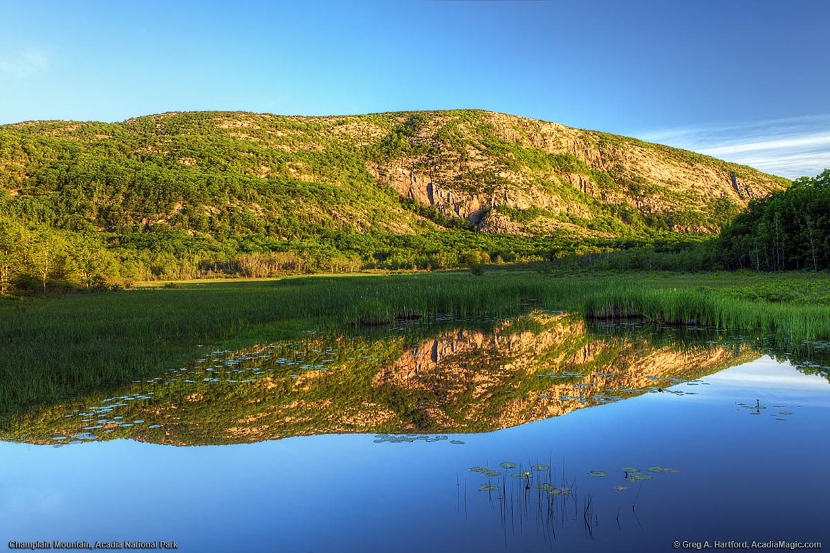 Champlain Mountain in Acadia National Park, Maine