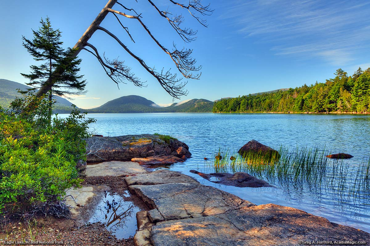 Eagle Lake in Bar Harbor, Maine