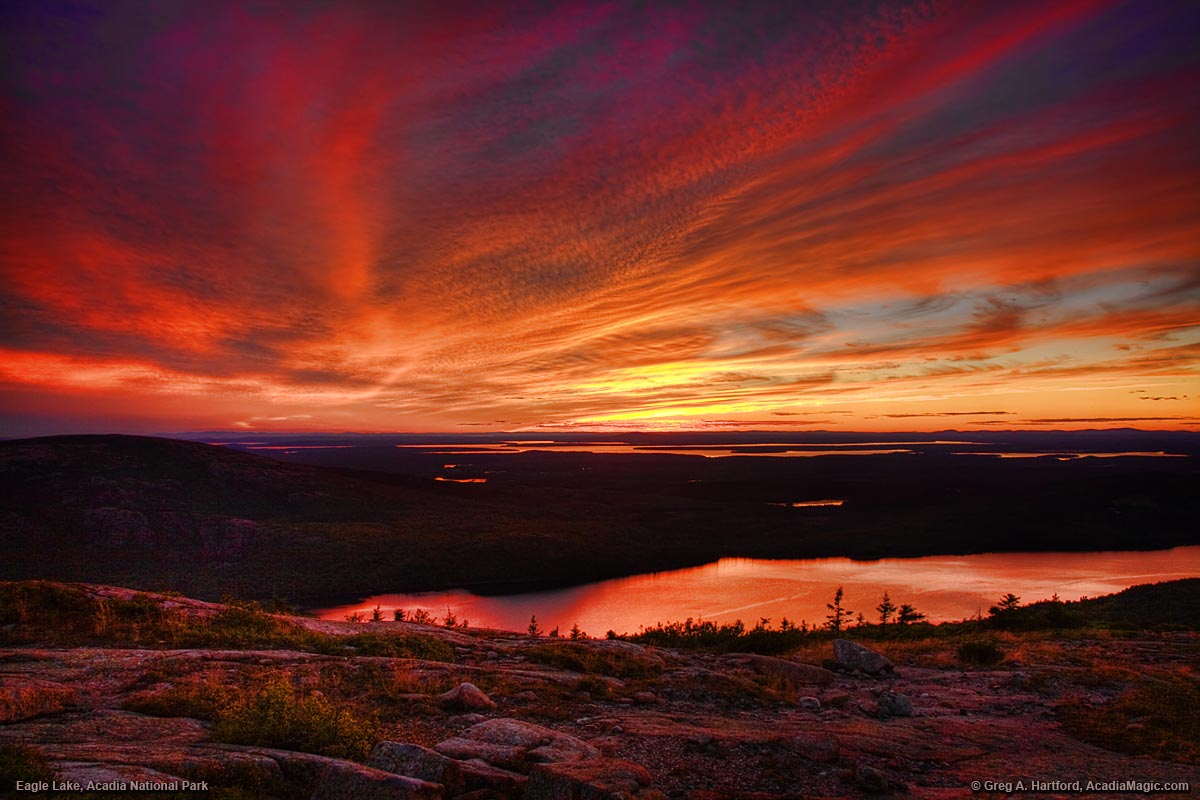 Cadillac Mountain Sunset in Acadia National Park, Maine
