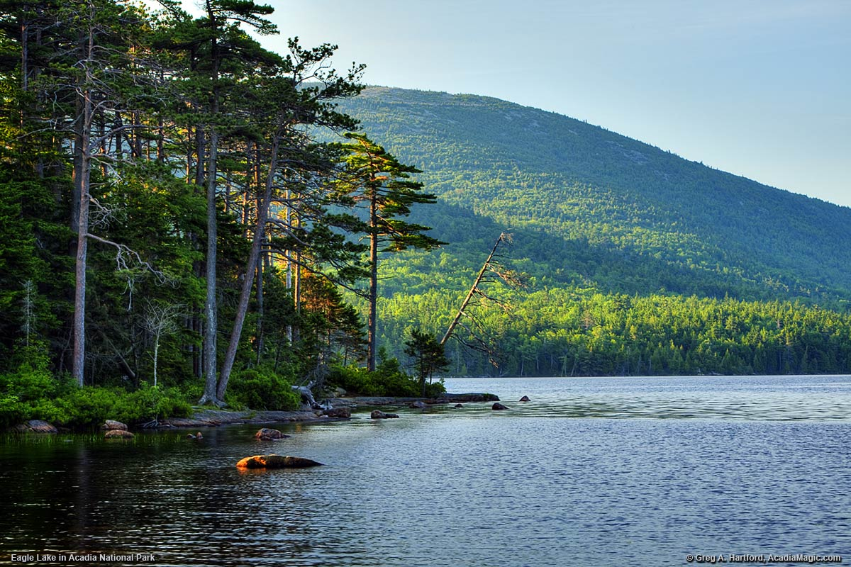 Eagle Lake in Acadia National Park, Maine
