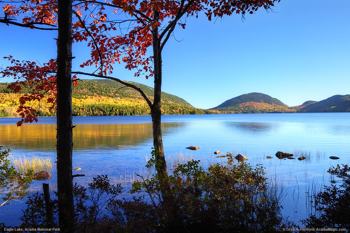 Autumn at Eagle Lake in Bar Harbor and Acadia National Park