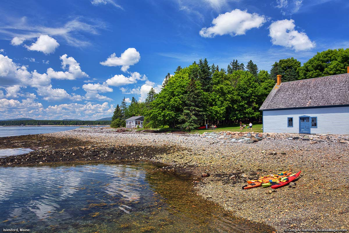 Islesford Maine Shore With Shallow Ocean Water
