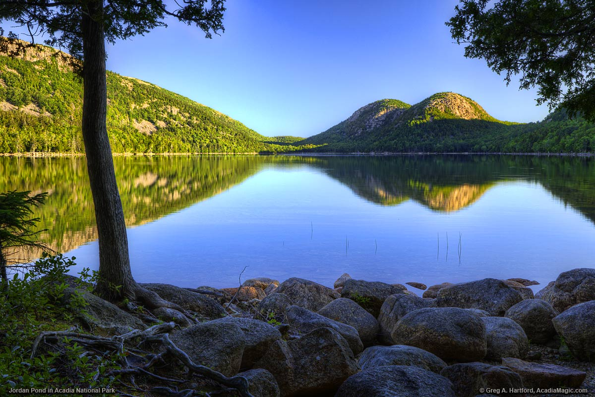 Jordan pond the bubbles in acadia national park for Acadia national park fishing