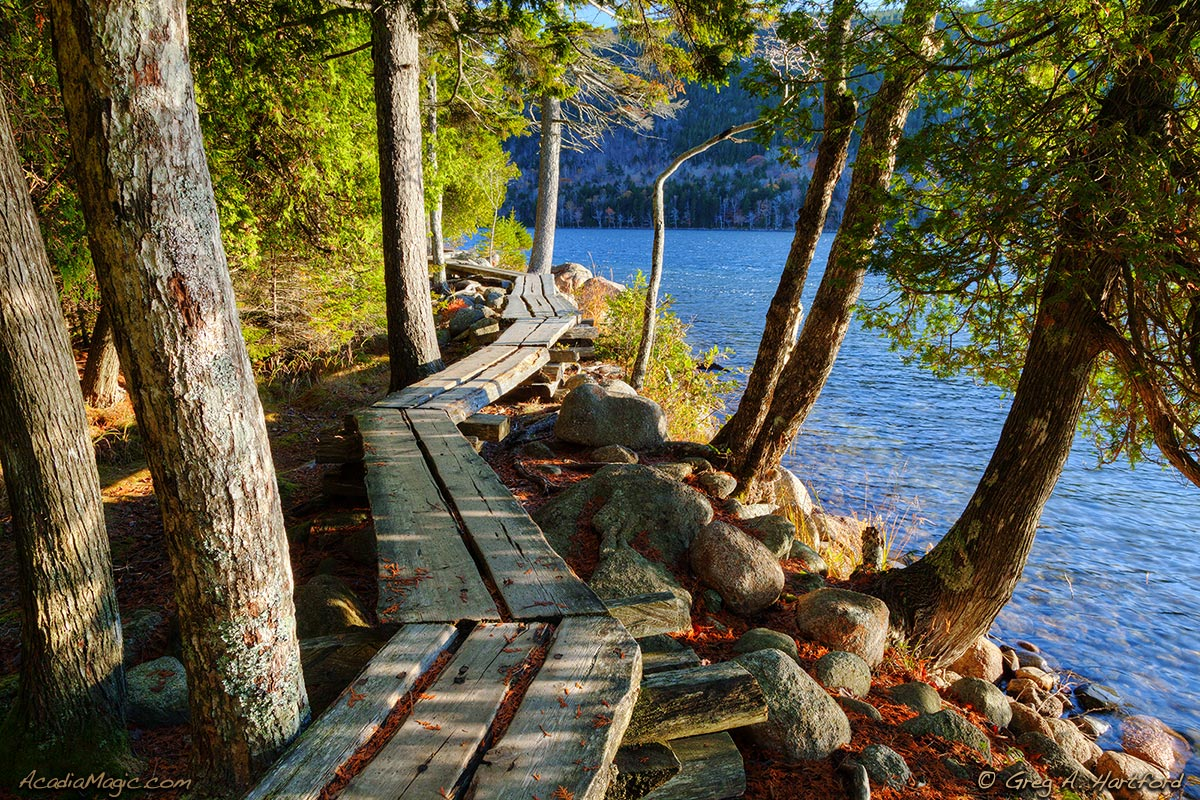 Boardwalk at Jordan Pond in Acadia