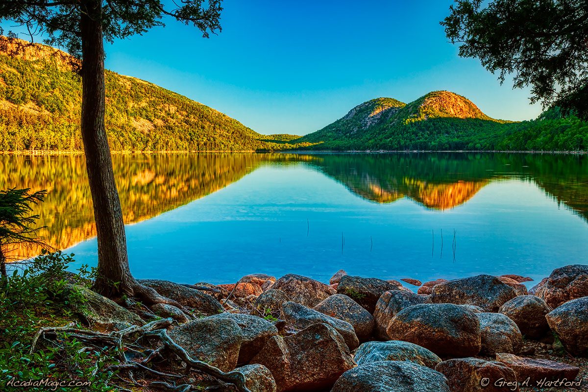 Jordan Pond & The Bubbles in Acadia National Park