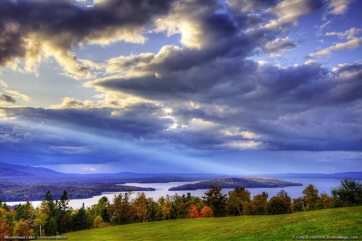 Moosehead Lake in Greenville, Maine