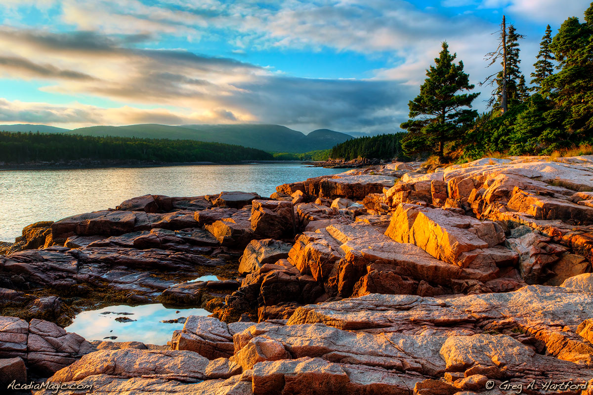 Sunset on Otter Point in Acadia National Park, Maine