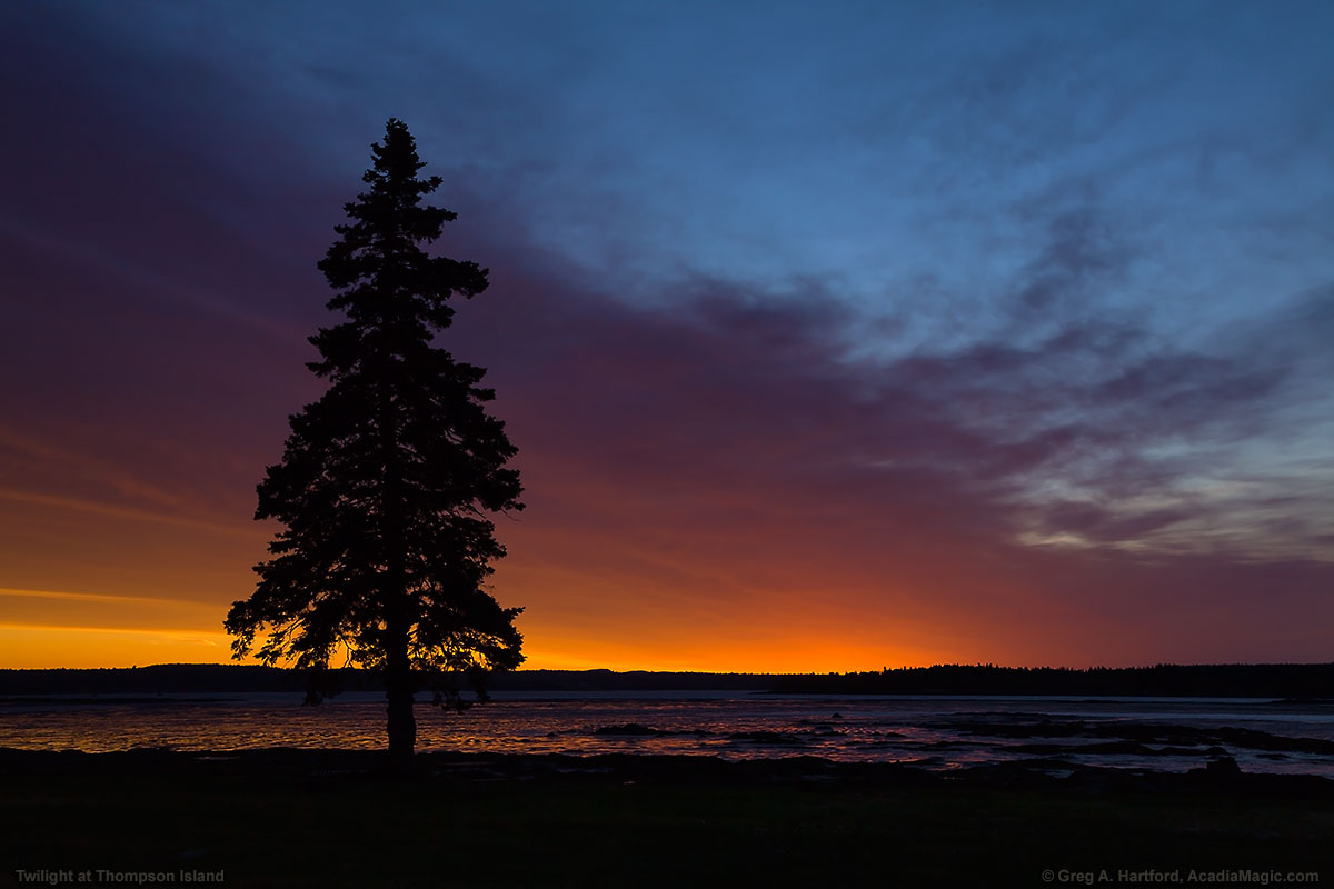 Just before the sunrise in Acadia National Park overlooking Bar Harbor, Maine - Photo 9