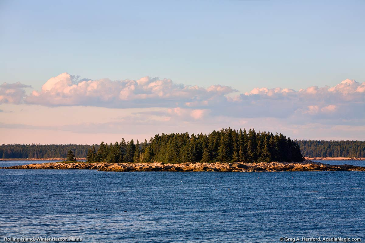 Rolling Island in Winter Harbor, Maine