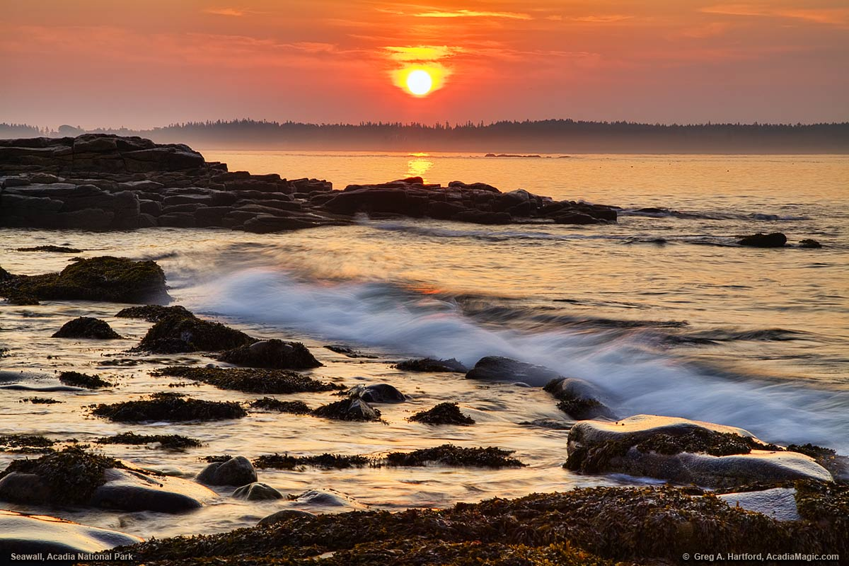 Sunrise at Seawall in Acadia National Park